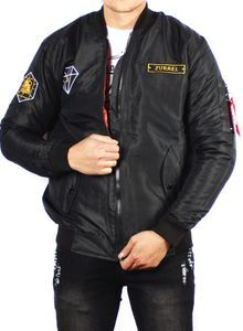 Jaket Pria Bomber Pilot Original Zurrel Diamond [Black]