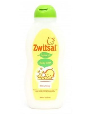 Zwitsal Baby Bath Natural Milk & Honey 200 ml