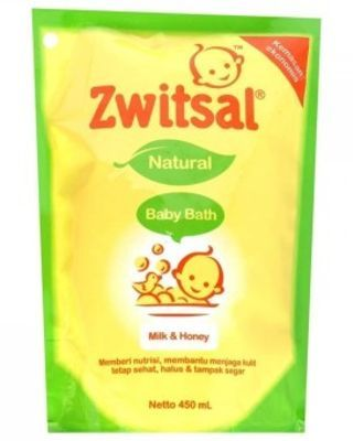 Zwitsal Baby Bath Milk & Honey - 450ml Pouch
