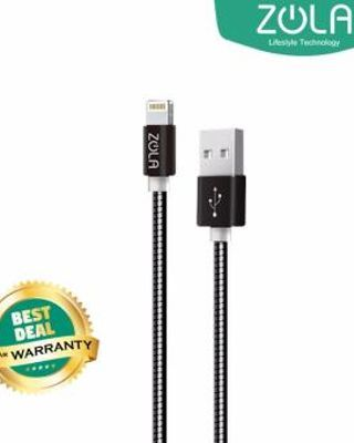 Zola International Zpiral Fast Charging 2.1A Kabel Lightning Data & Charging - Black
