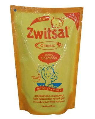 Zwitsal Baby Shampoo Classic Mild Formula Refill - Pouch - 450mL